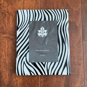 Zebra Print Glass Picture Frame